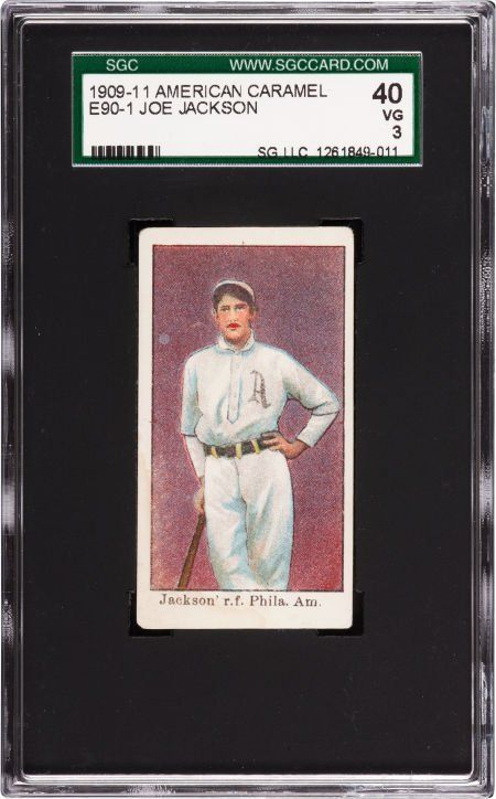 Lot Detail Shoeless Joe Jackson 1909 11 American Caramel