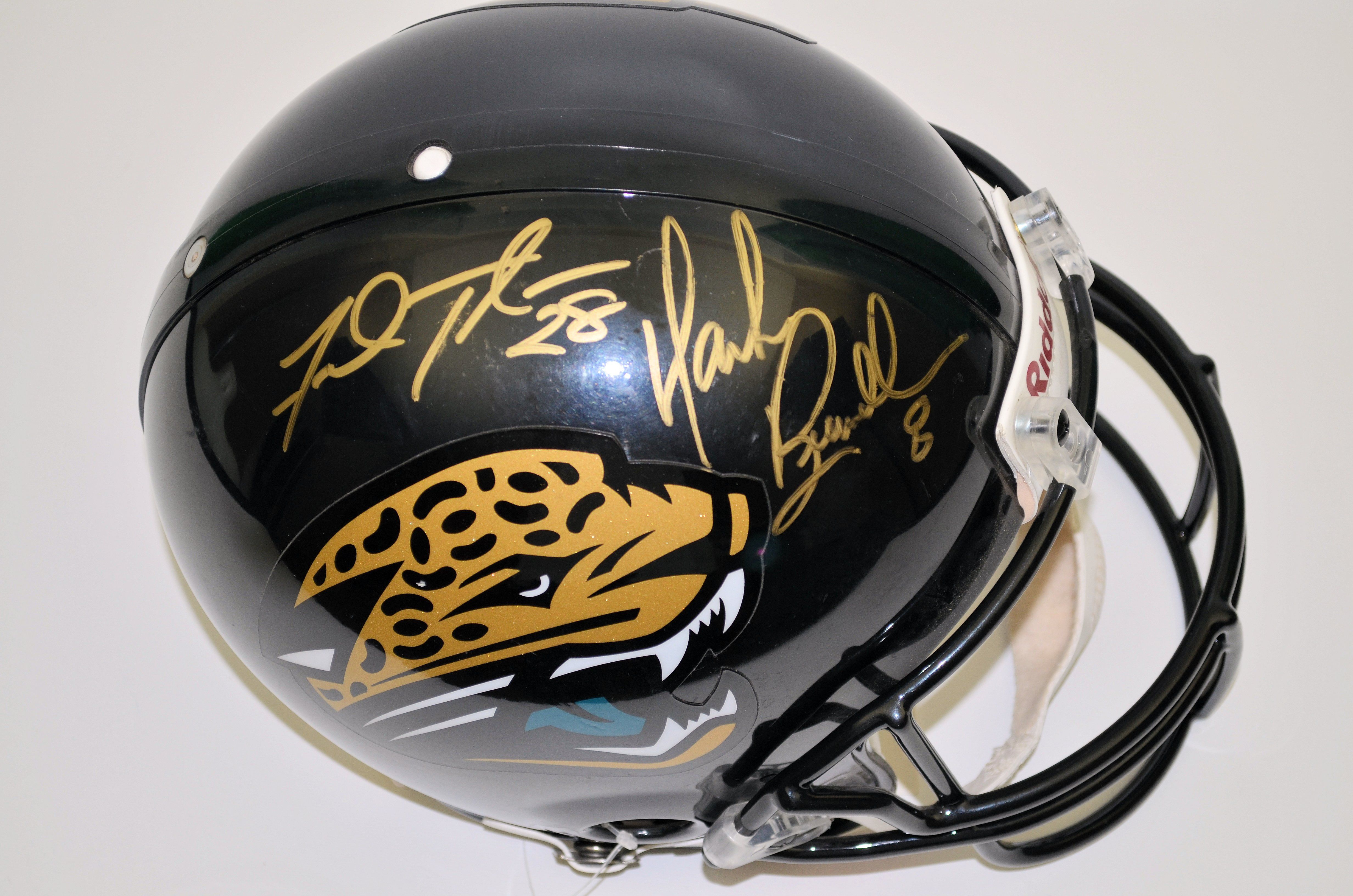 jacksonville jaguars fred taylor mark brunell dual signed helmet. Cars Review. Best American Auto & Cars Review