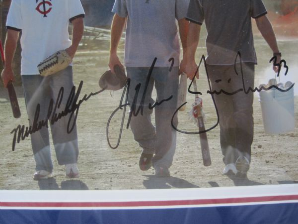 Joe Mauer, Justin Morneau & Michael Cuddyer Autographed & Framed Photo