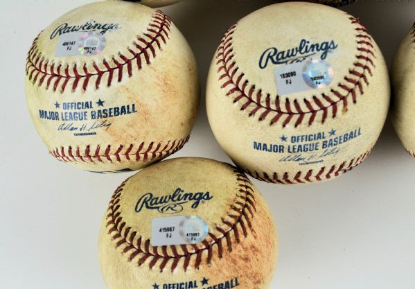 Minnesota Lot of 7 Game Used Baseballs