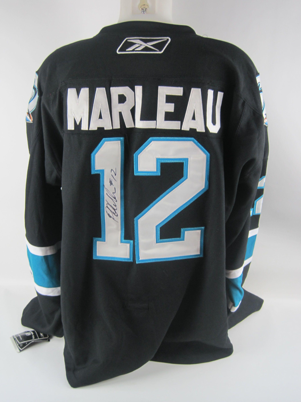 new arrival 76820 54671 Lot Detail - Patrick Marleau Autographed San Jose Sharks Jersey