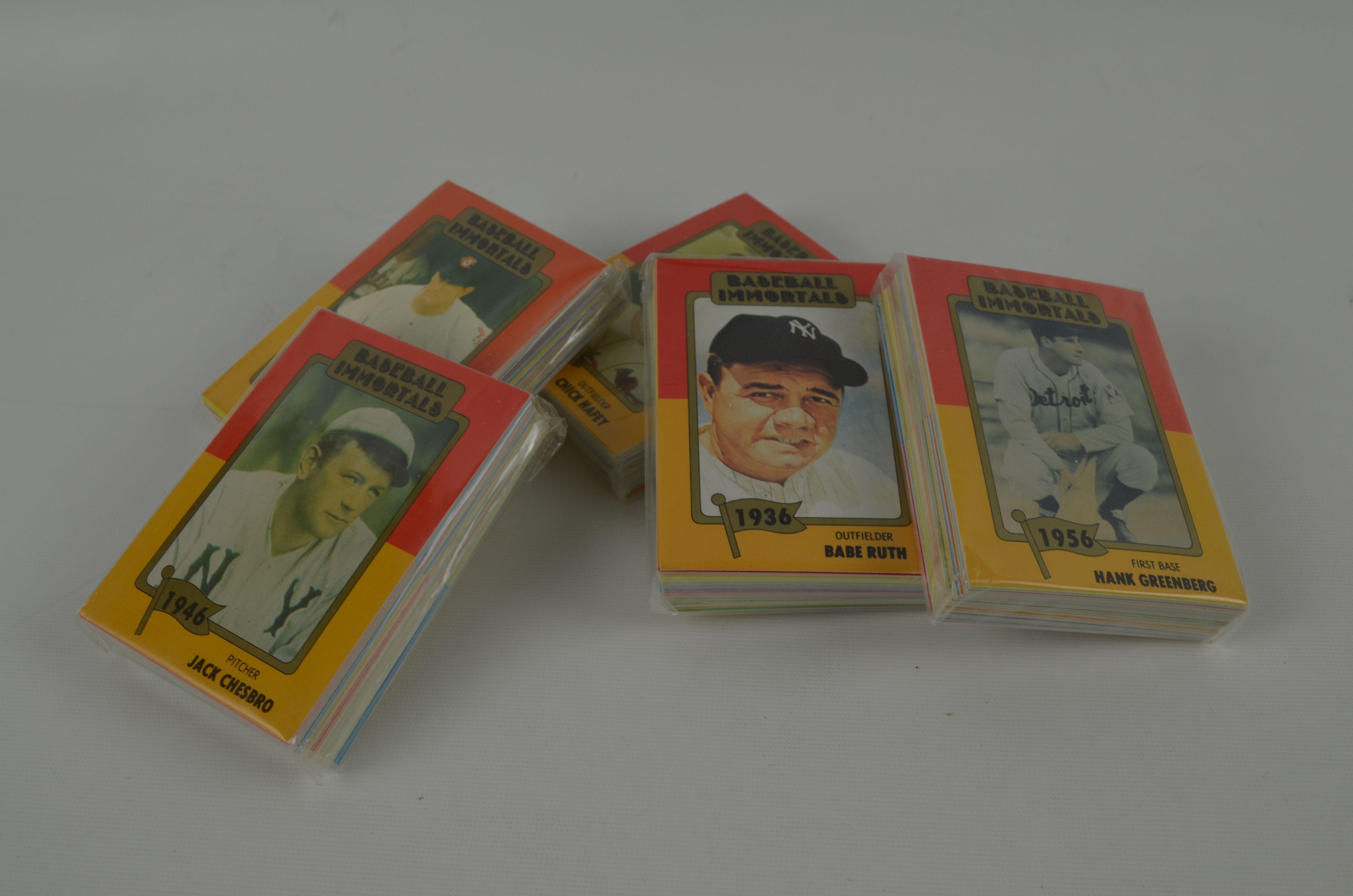 Lot Detail Baseball Immortals Card Set