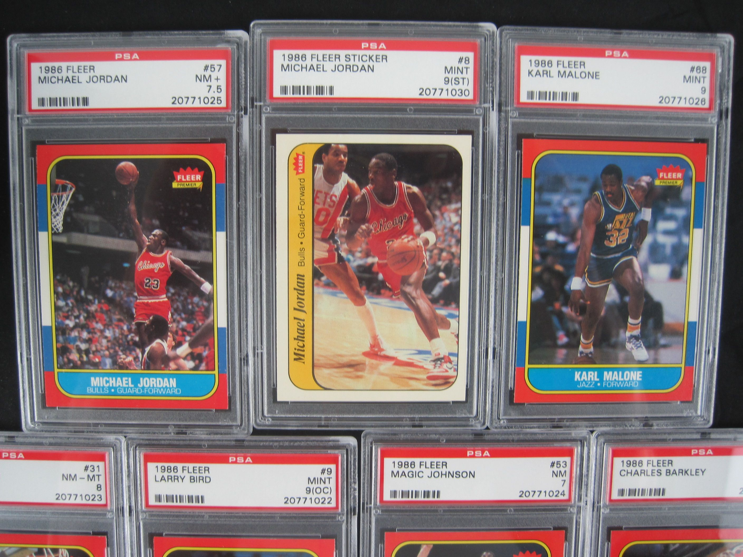 Lot Detail 1986 87 Fleer Basketball Card Set Wmichael Jordan