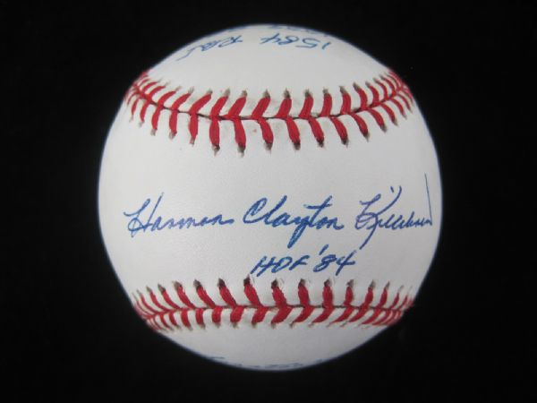 Harmon Killebrew Hand Signed Rare STAT Baseball w/15 Inscriptions