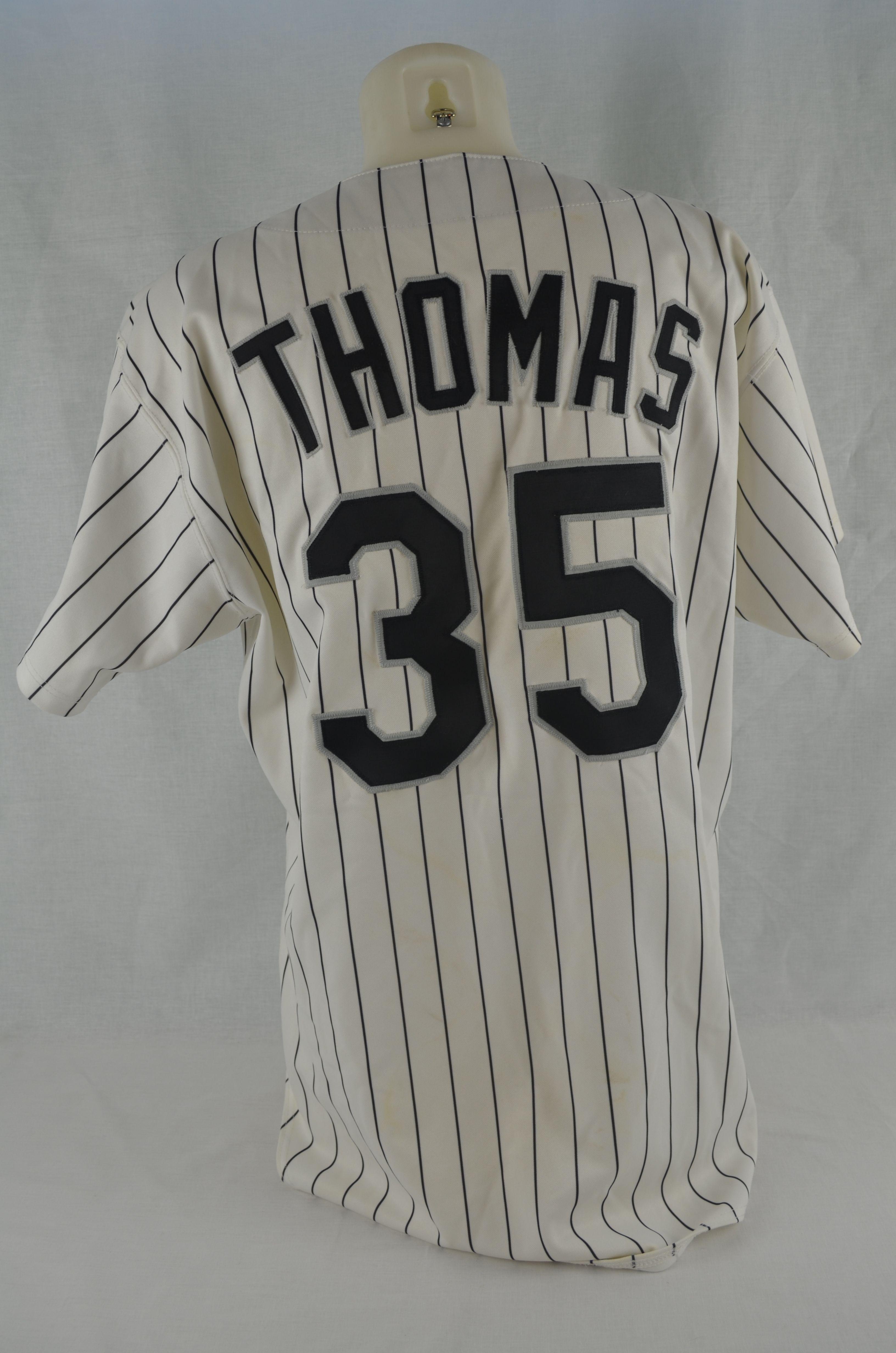 9671e200ff5 Frank Thomas 1998 Chicago White Sox Professional Model Jersey w Medium Use  ...