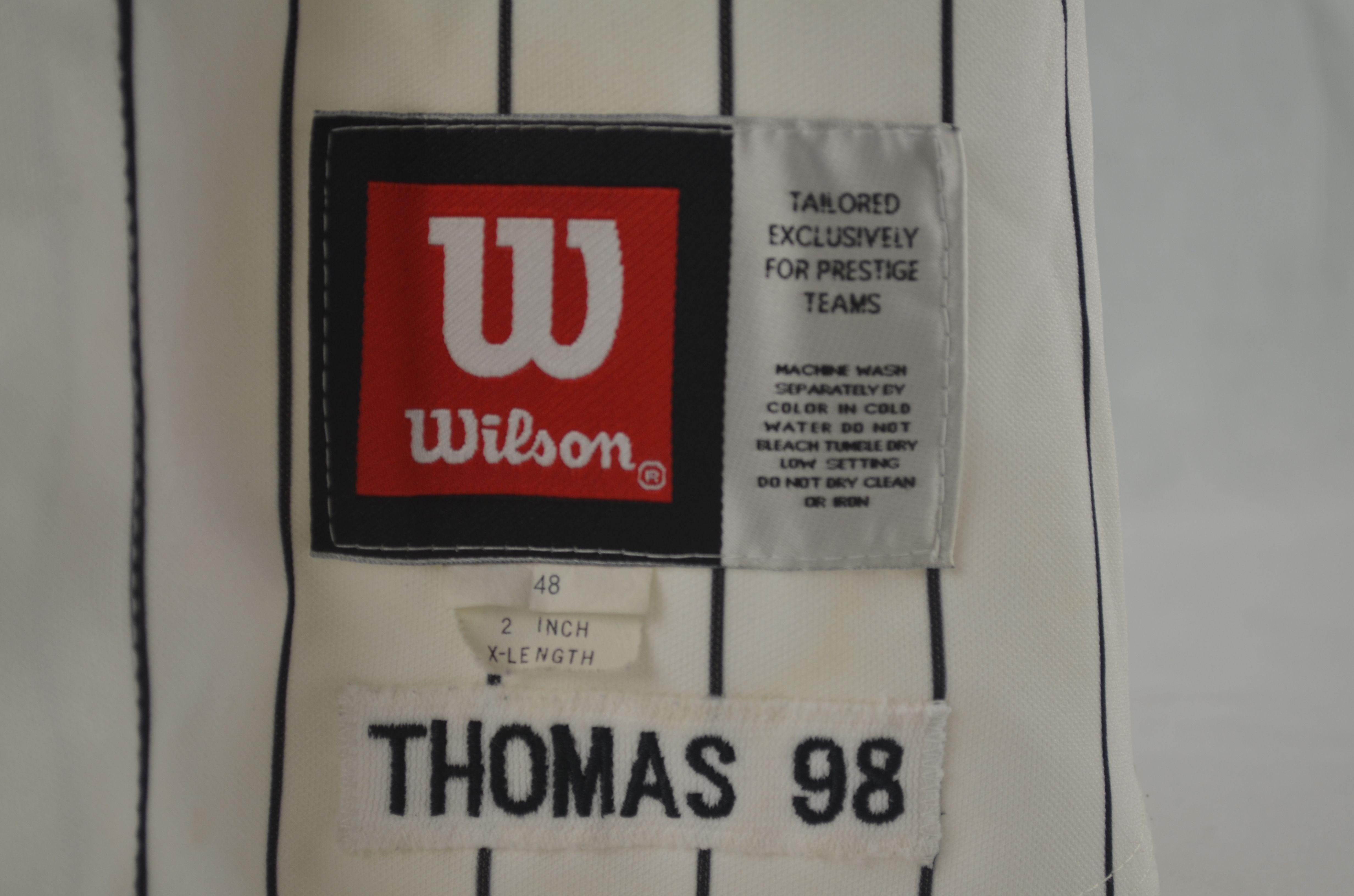 77ae943b53c ... Frank Thomas 1998 Chicago White Sox Professional Model Jersey w Medium  Use ...