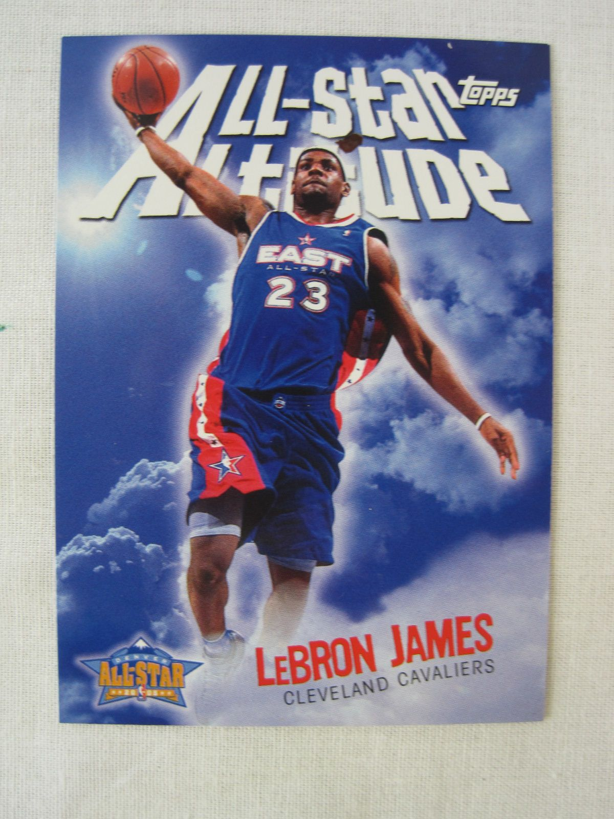 23249addcfc0 ... LeBron James 2004-05 Professional Model First All Star Game Uniform  w Photo Style ...