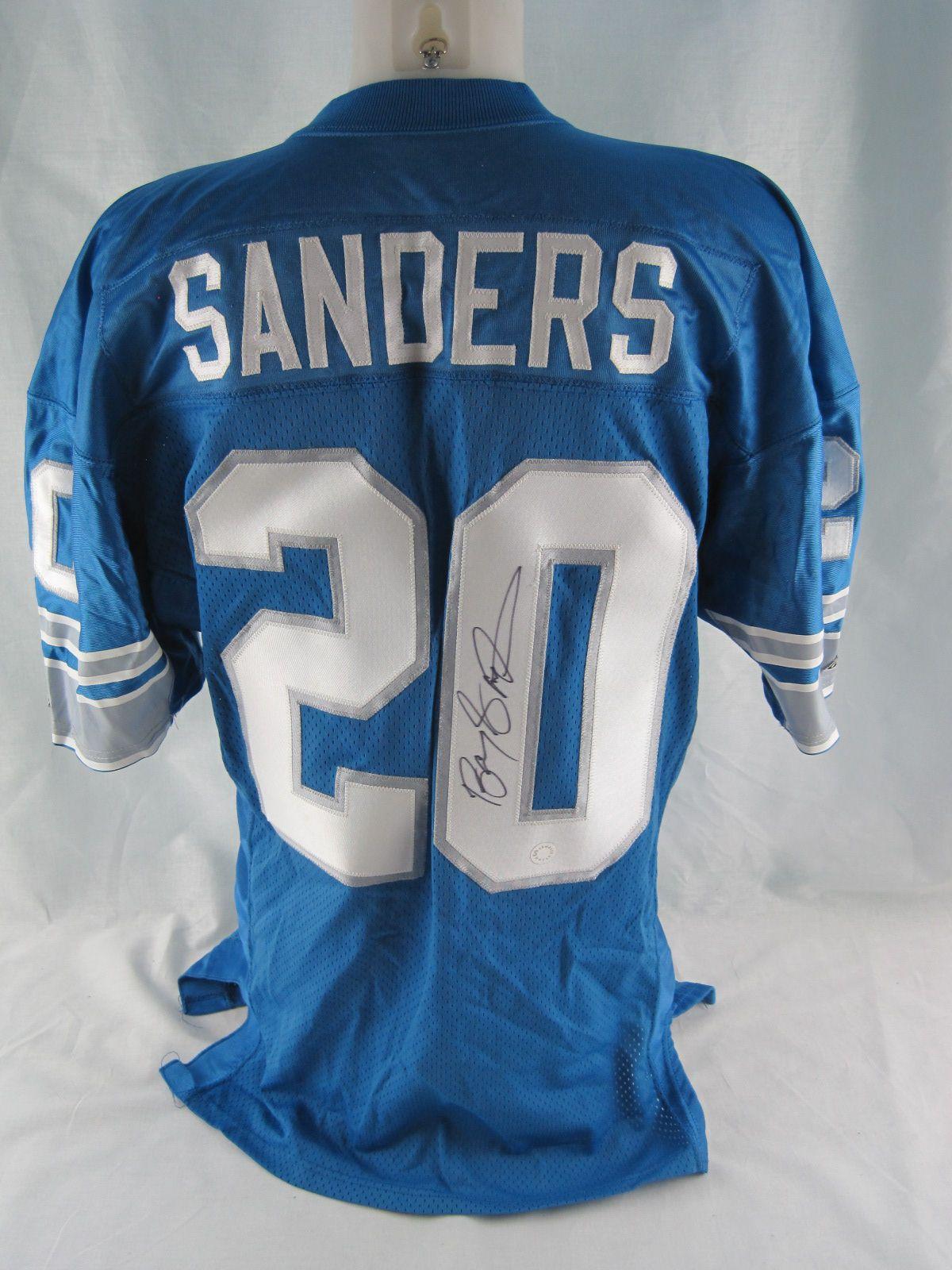 191e5b1b7 ... Barry Sanders 1994 Detroit Lions 75th Anniversary Autographed Jersey .