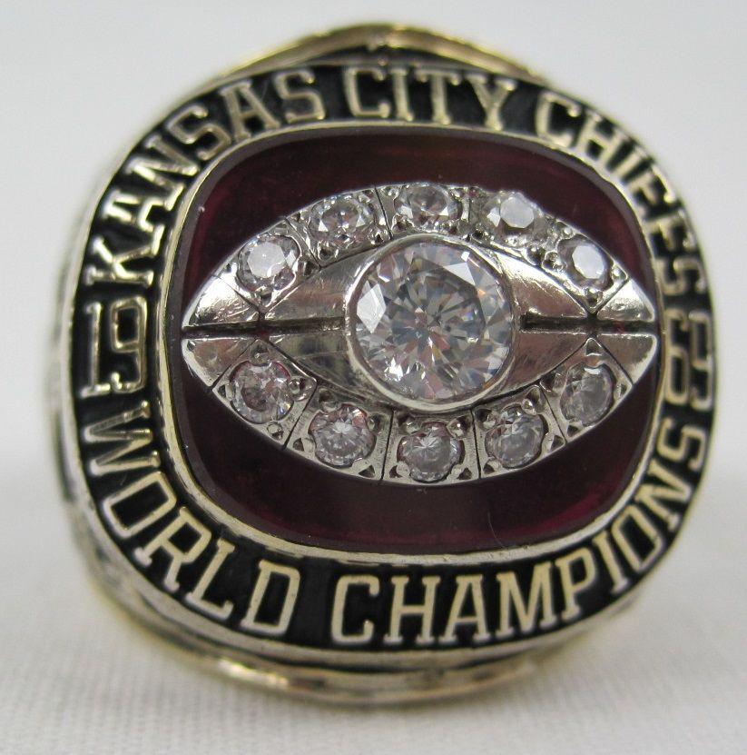 e7e90339194 Hank Stram 1969 Kansas City Chiefs Super Bowl IV World Championship Ring ...