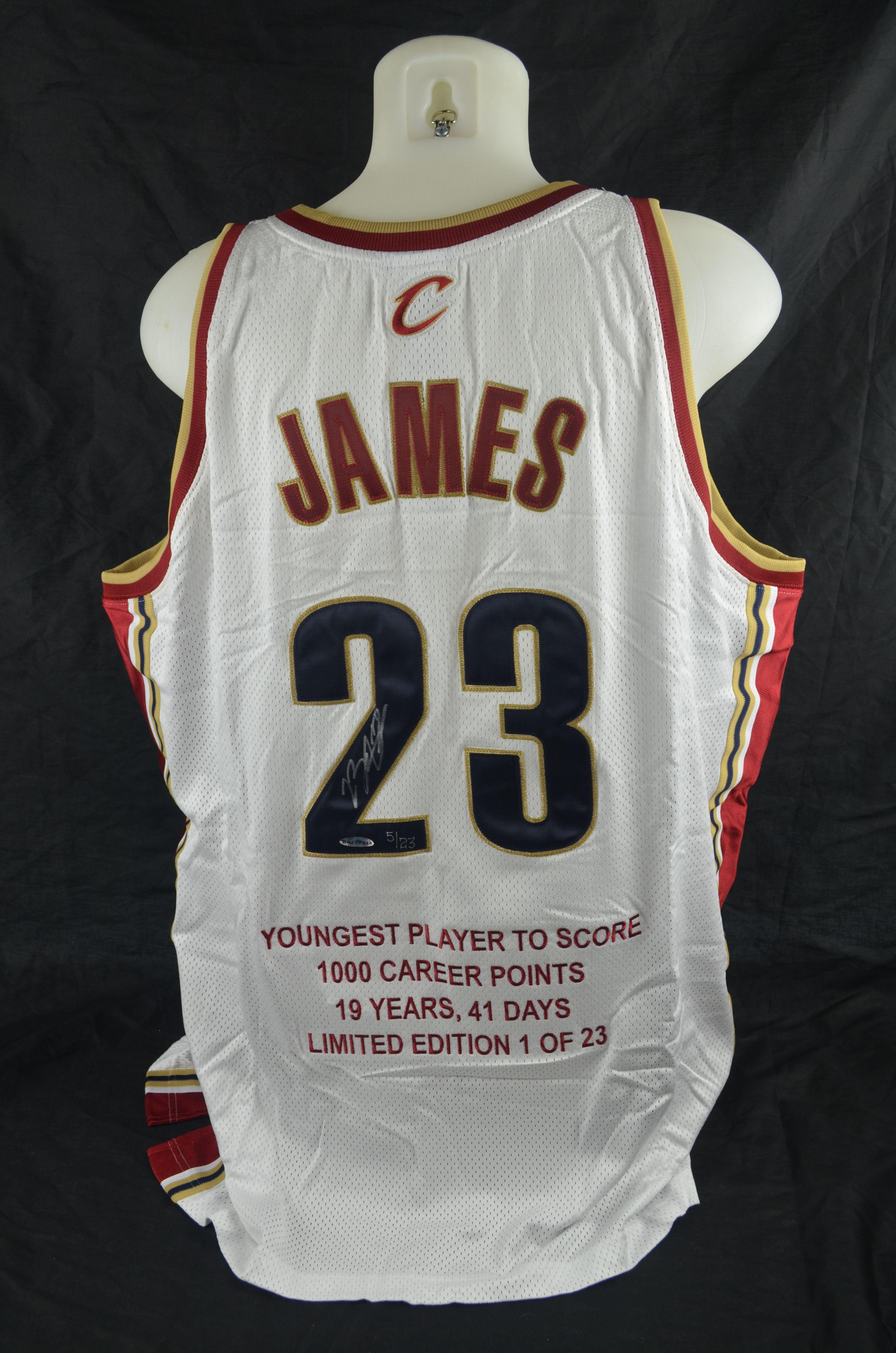 sports shoes cf7d4 8a81e Lot Detail - LeBron James Autographed LE Rookie Jersey UDA