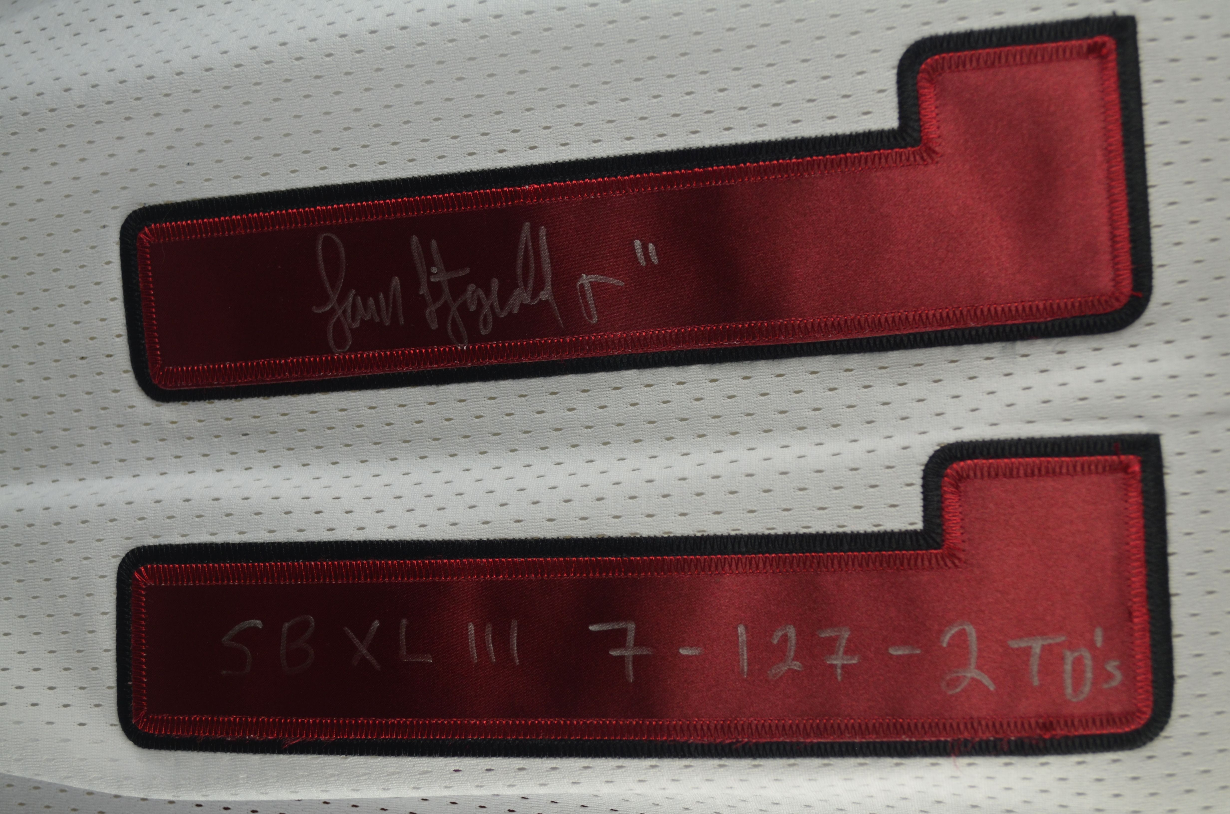 more photos fd501 29ea8 Lot Detail - Larry Fitzgerald Dual Signed & Inscribed Super ...