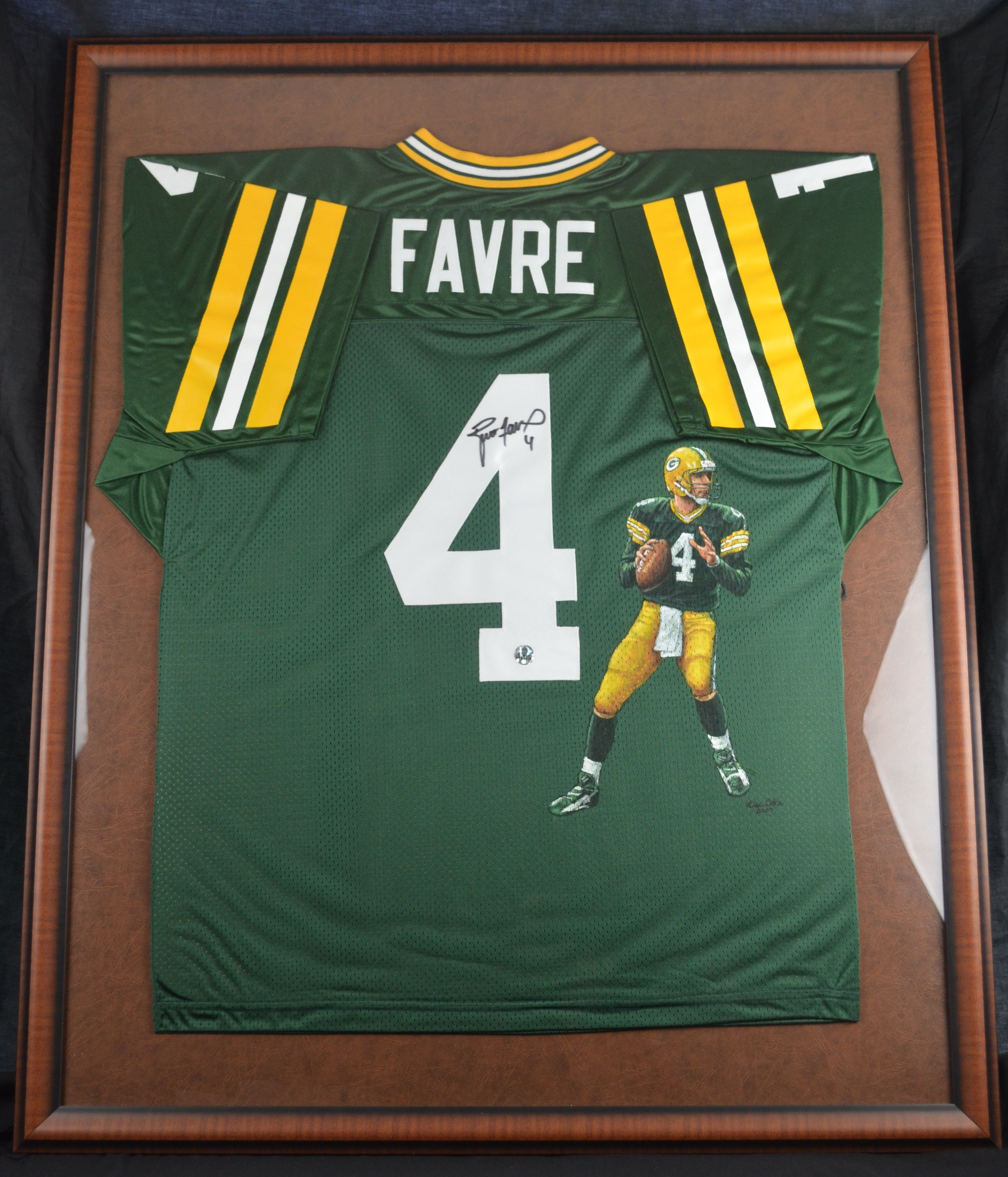 Lot Detail Brett Favre Autographed Painted 1 Of 1 Green