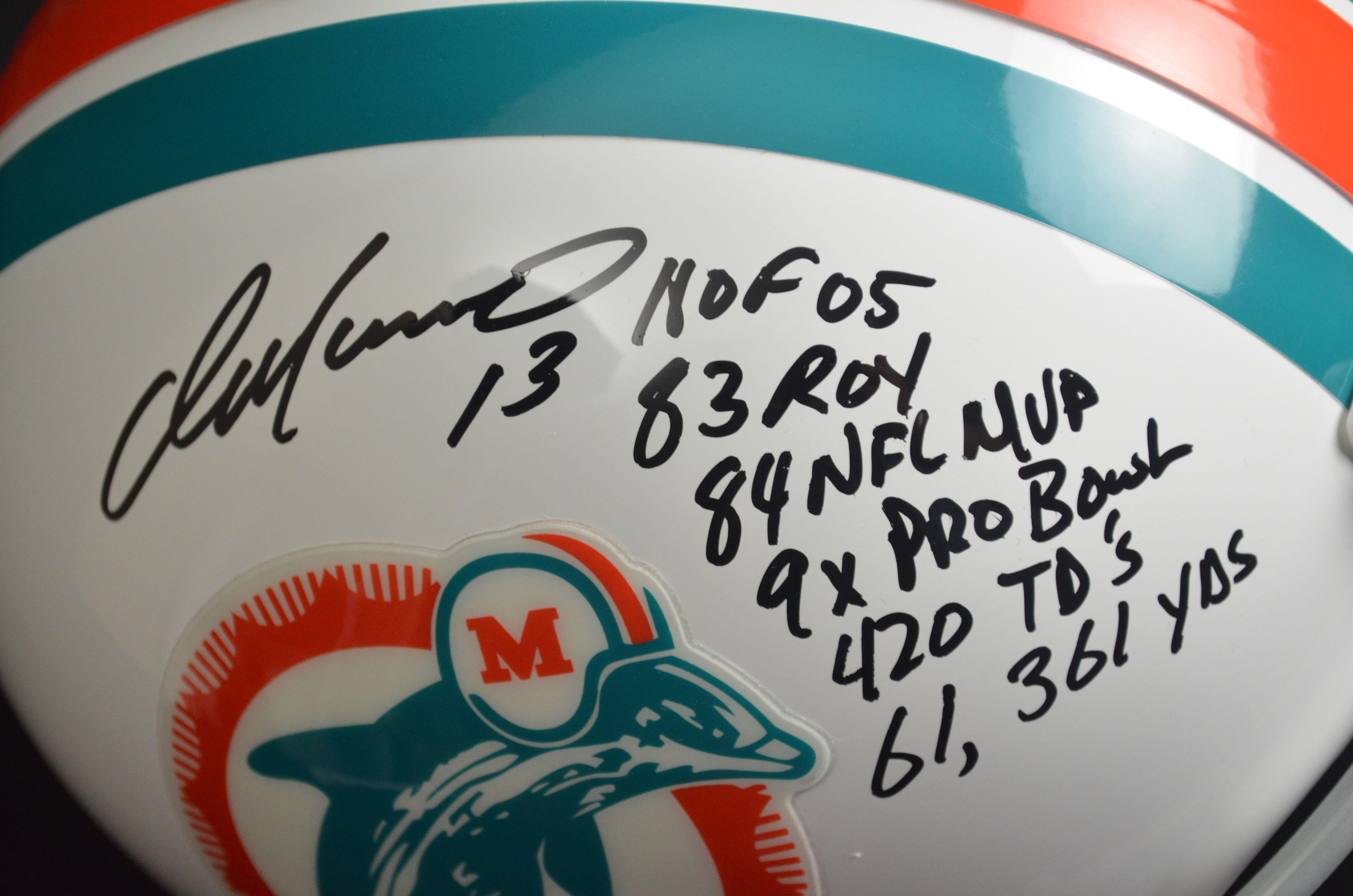 another chance a7bda 0fa58 Lot Detail - Dan Marino Miami Dolphins Autographed ...