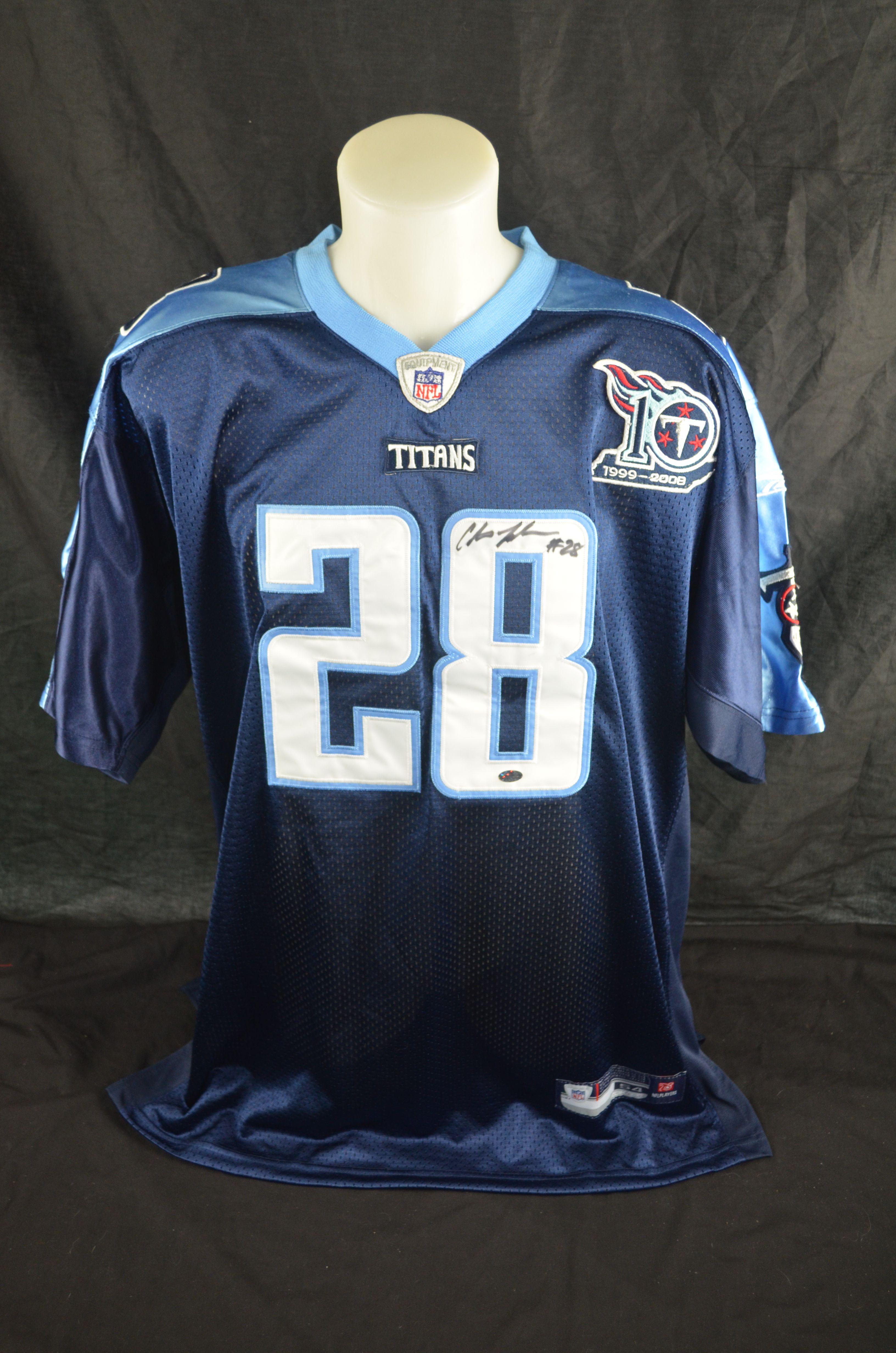Lot Detail Chris Johnson Tennessee Titans Autographed Jersey