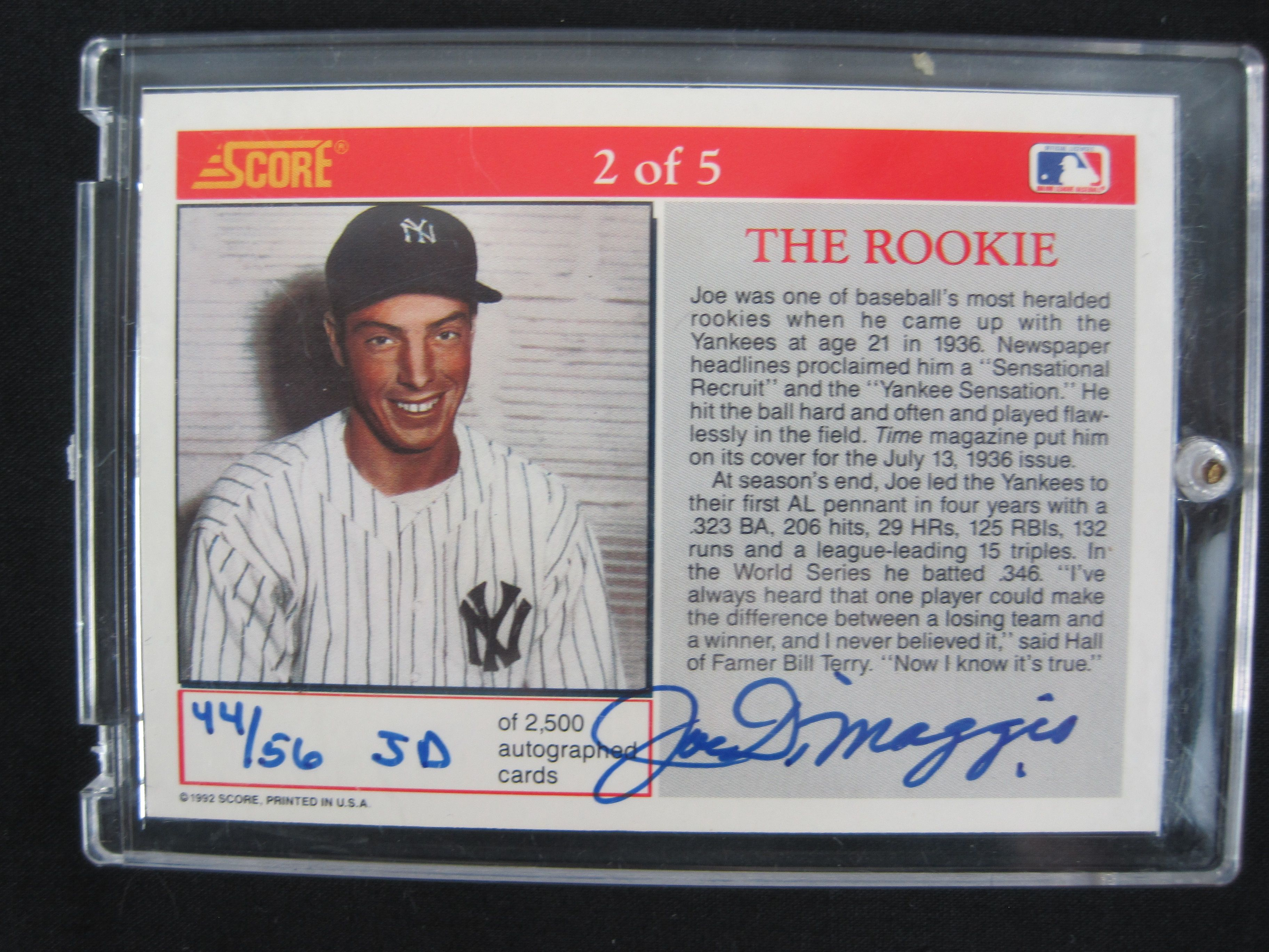 Lot Detail Joe Dimaggio Lot Of 2 Game Used Autographed