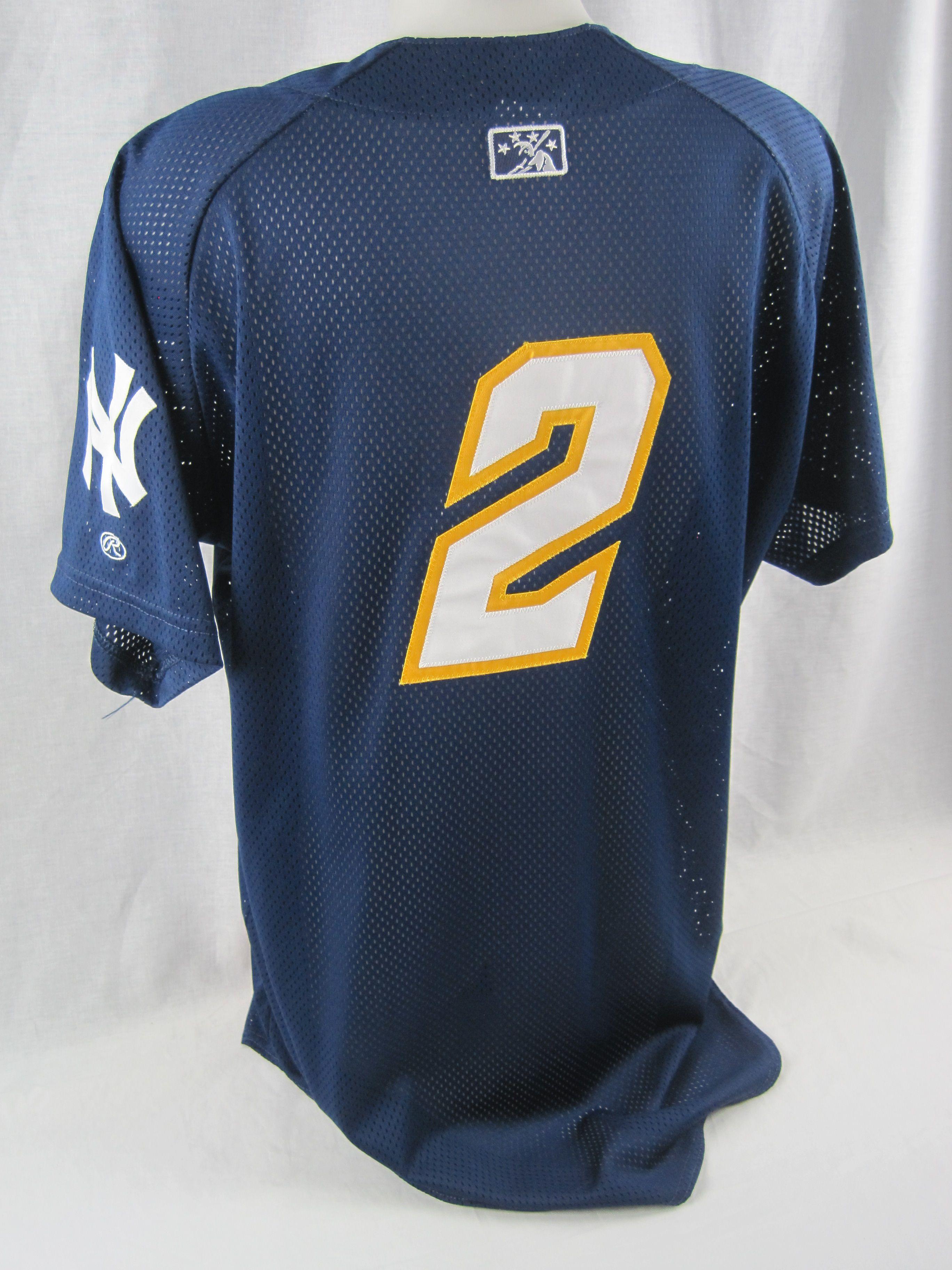 ... Derek Jeter July 2nd   3rd 2011 Worn Trenton Thunder Batting Practice  Jersey   Hat w ... a99bc70b479