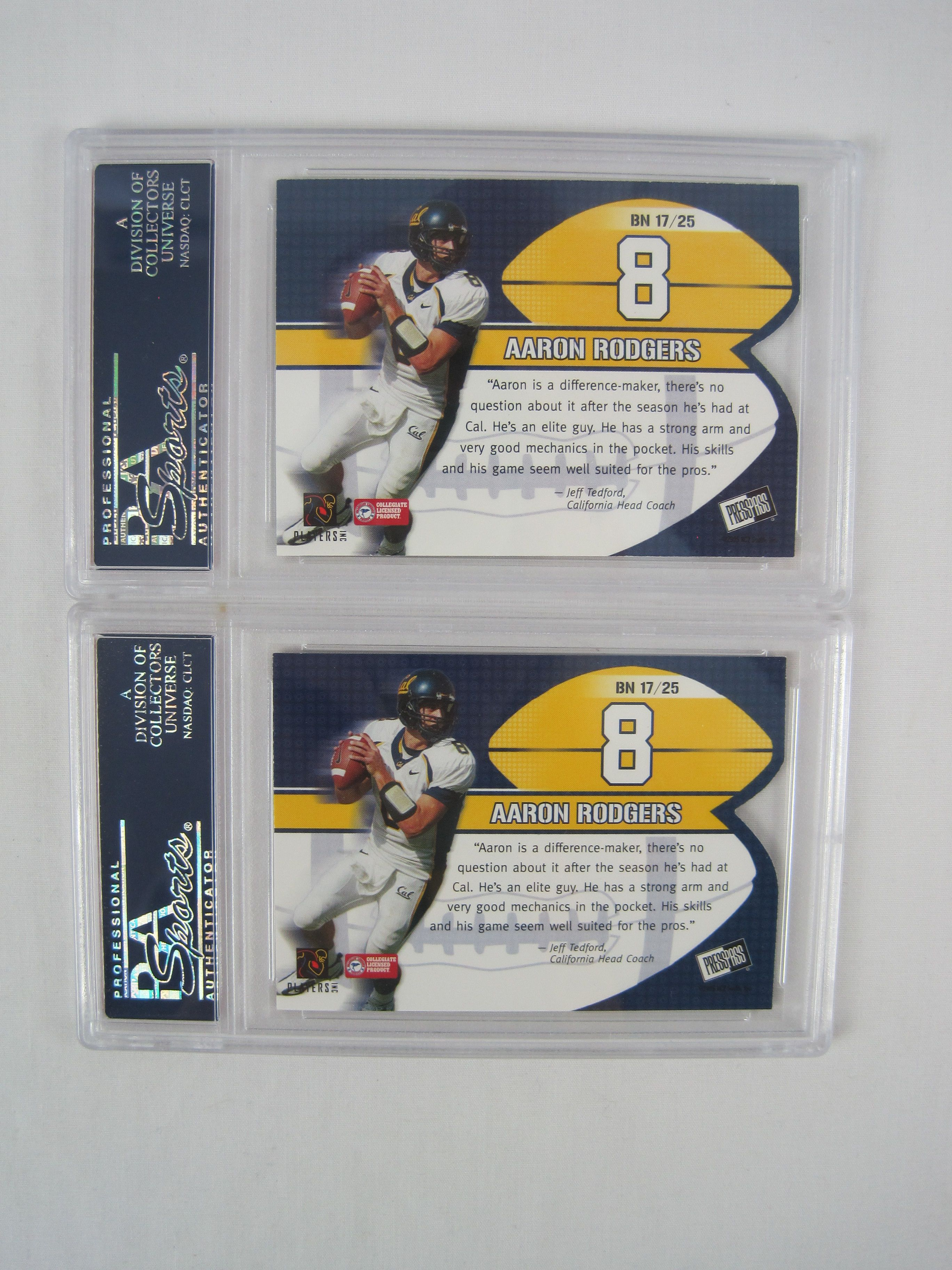 Lot Detail Aaron Rodgers 2005 Psa Graded Rookie Card