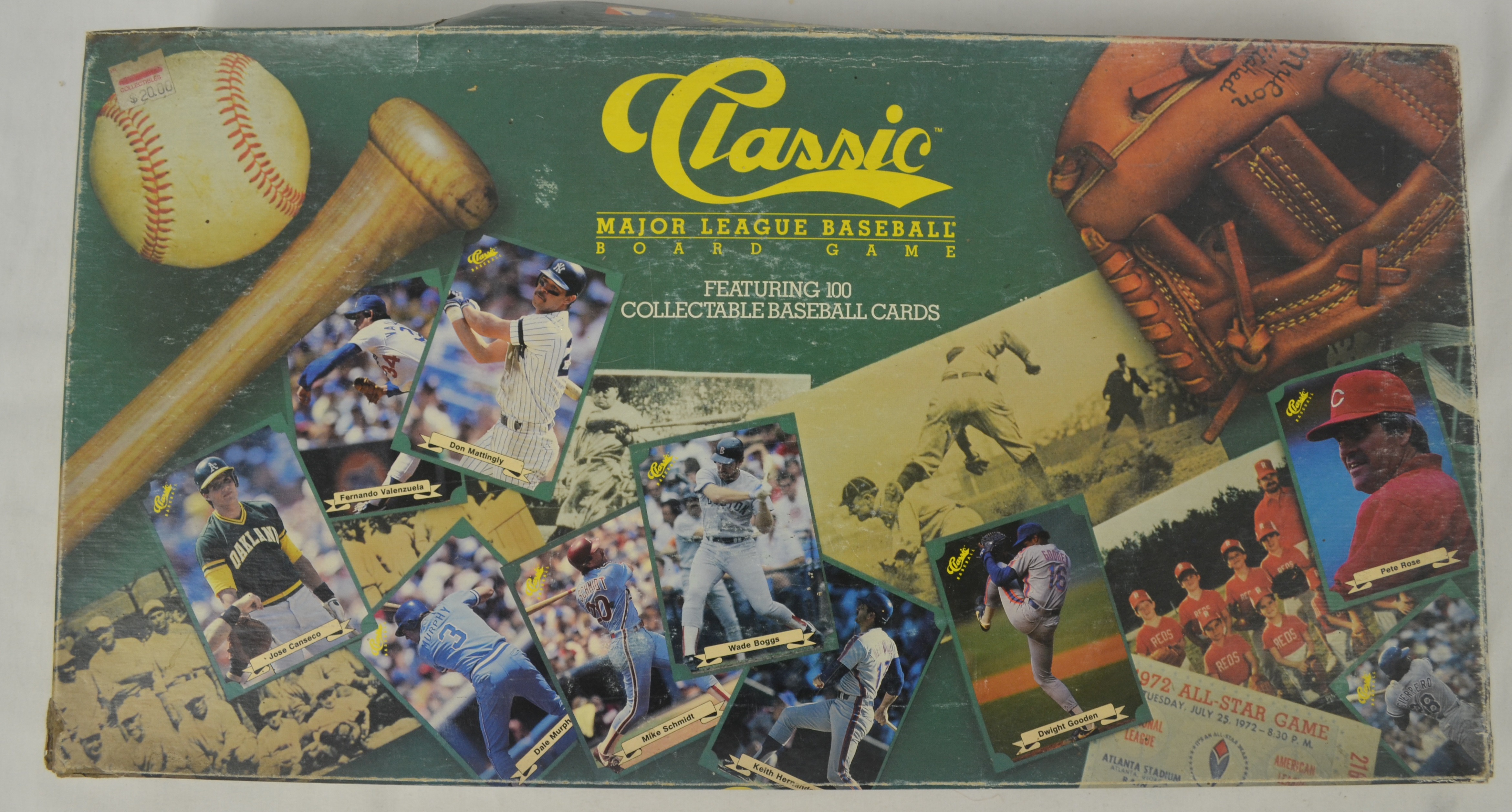 Lot Detail Classic 1987 Baseball Board Game W100 Card Collection