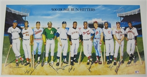 Ron Lewis 500 Home Run Club Autographed Litho PSA/DNA