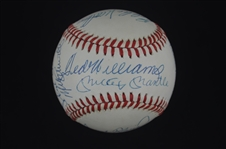 500 Home Run Club Autographed Baseball w/Mantle & Williams on Sweet Spot