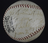 "Babe Ruth Autographed Baseball ""To Ruth Robbe"" Dated Jan 7th 1927"