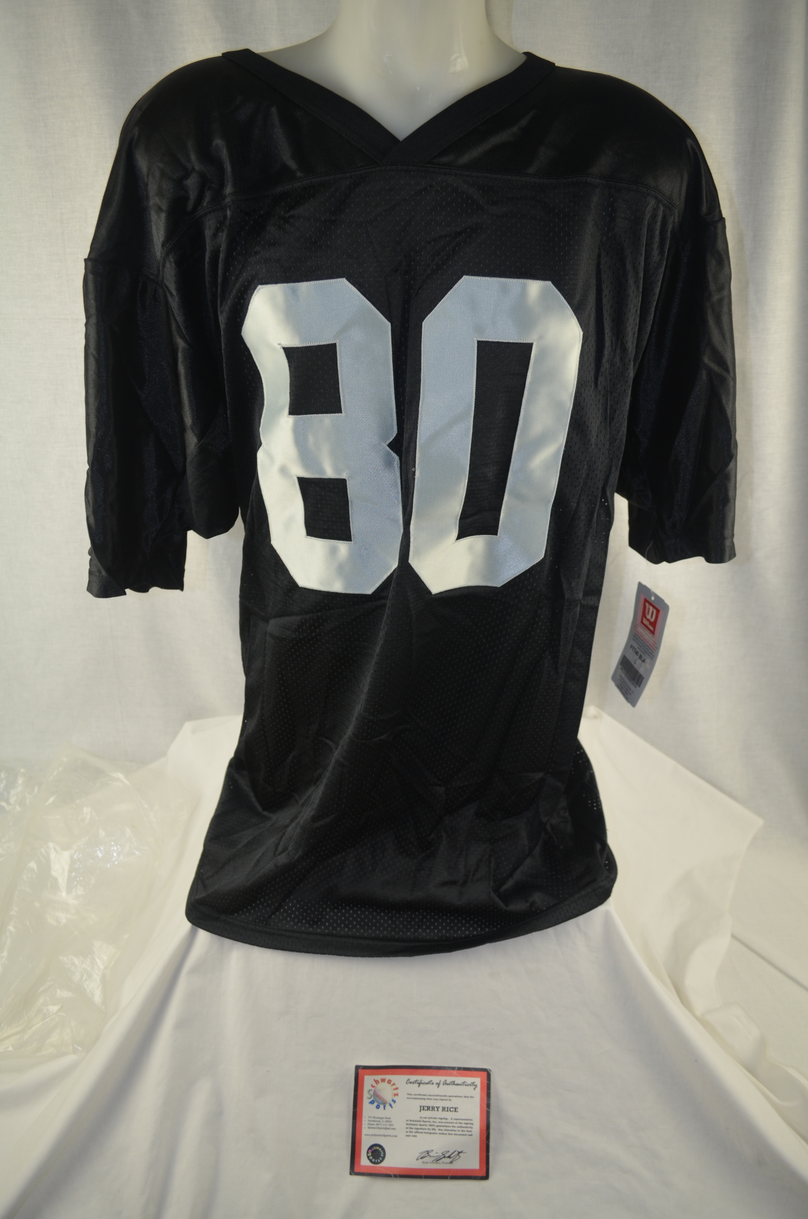 Lot Detail Jerry Rice Autographed Oakland Raiders Jersey