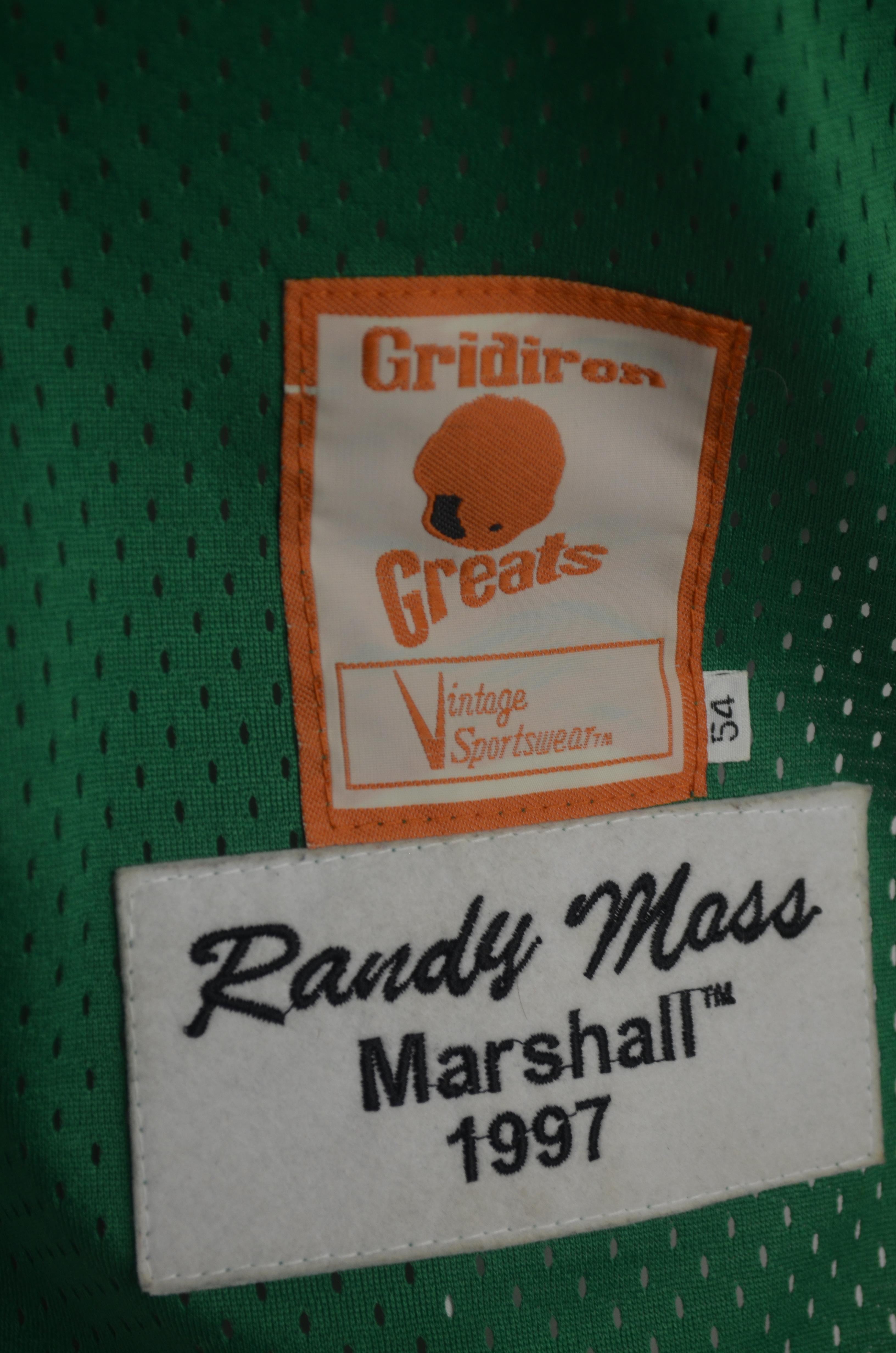 sports shoes a277e b46fe Lot Detail - Randy Moss 1997 Marshall University Football Jersey