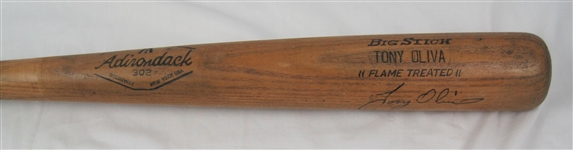 Tony Oliva 1968-70 Minnesota Twins Professional Model Bat w/Heavy Use