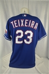 Mark Teixeira 2007 Texas Rangers Professional Model Jersey w/Light Use