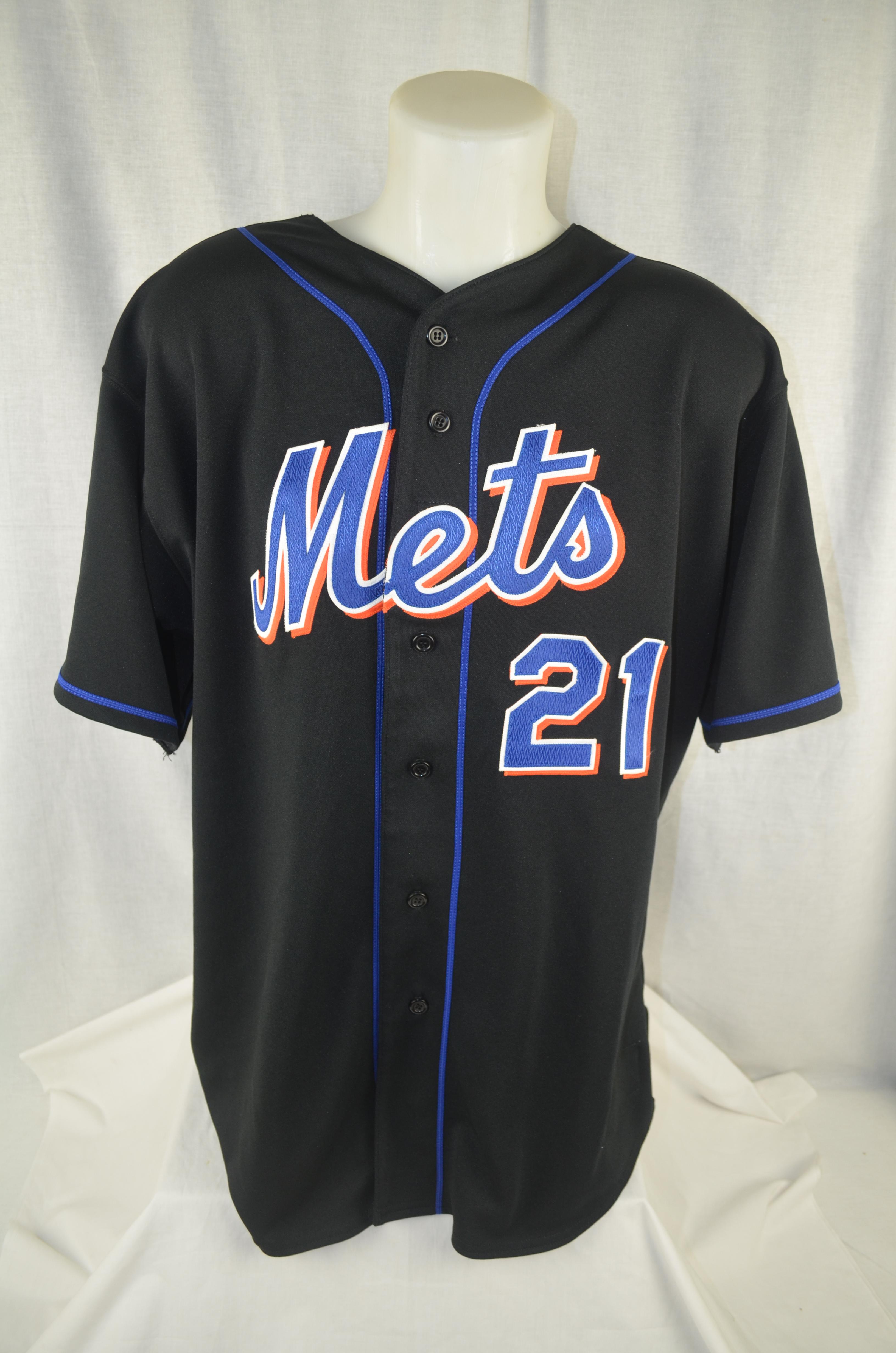 big sale c2b3e 235fd Lot Detail - Carlos Delgado New York Mets Professional Model ...