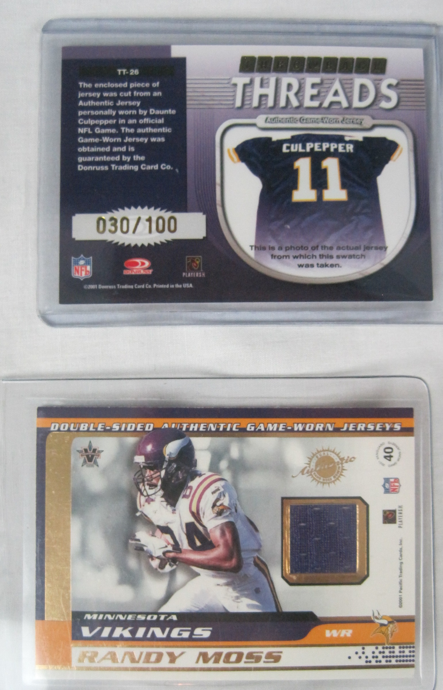 Lot Detail Randy Moss Daunte Culpepper Collection Of 15
