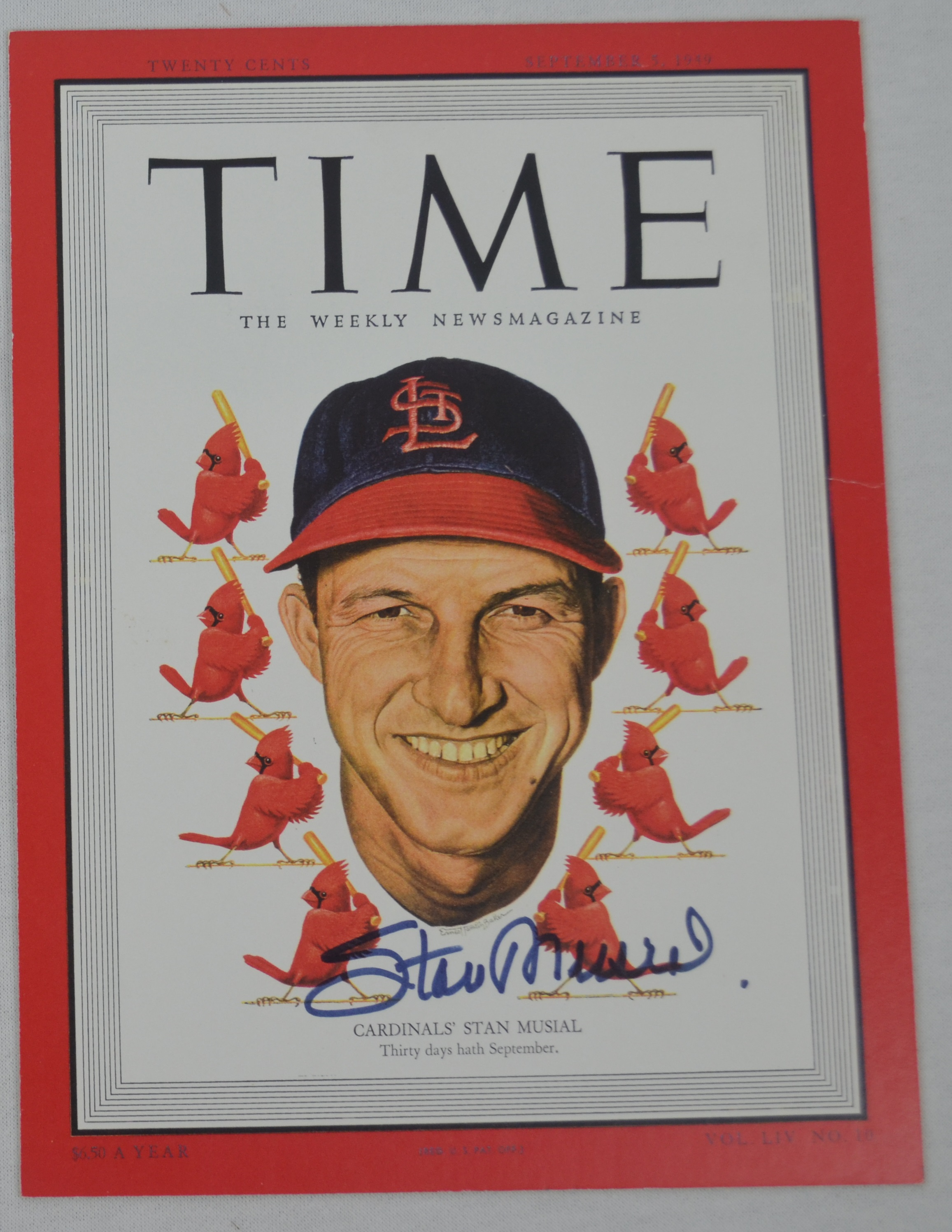 Lot Detail - Stan Musial Autographed 8x10 Photo