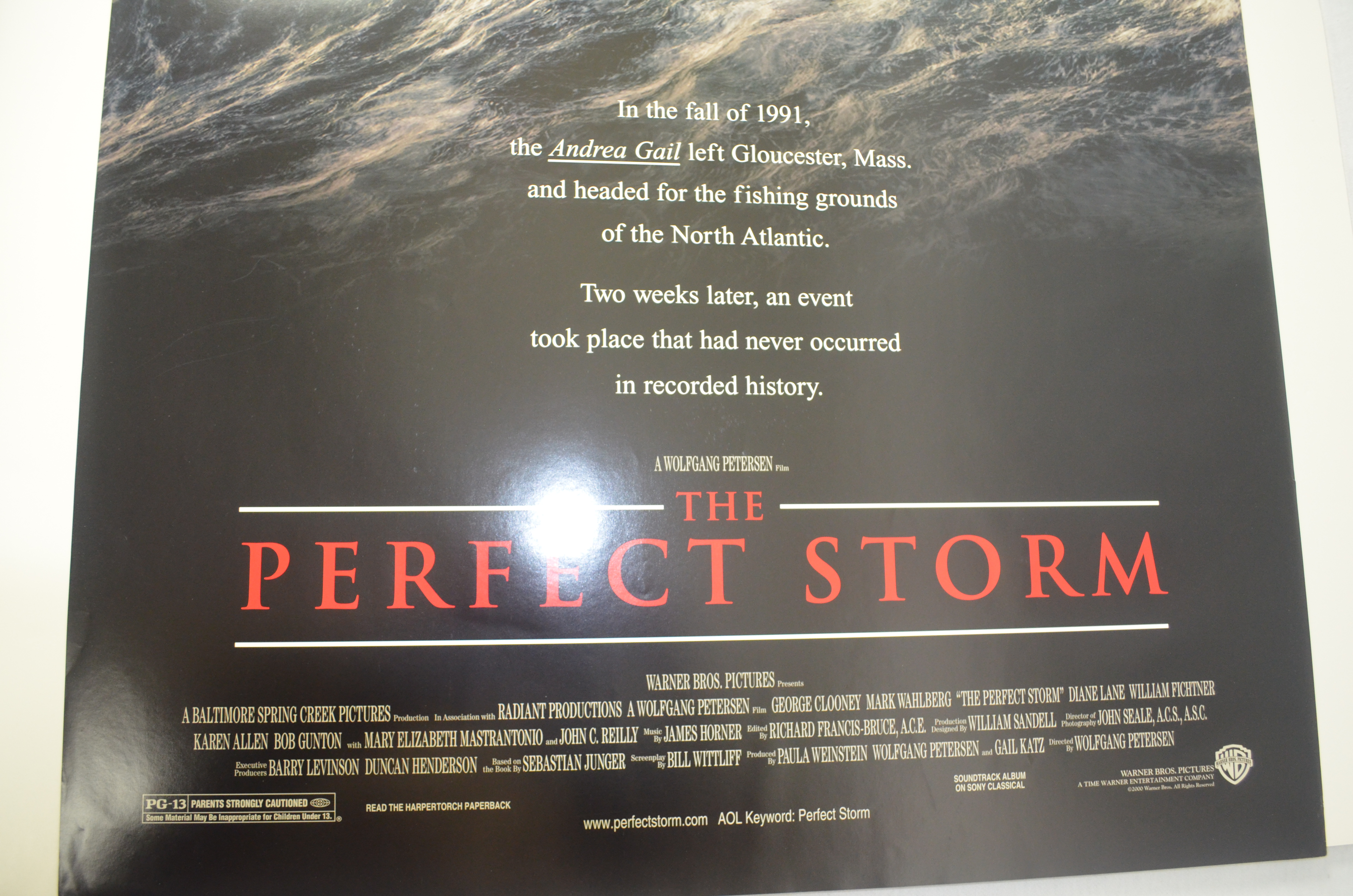 Lot Detail The Perfect Storm 2000 Original Movie Poster