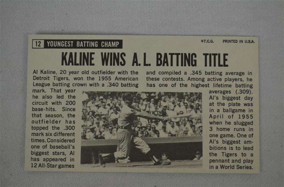 Lot Detail - Al Kaline & Warren Spahn Autographed Vintage Cards
