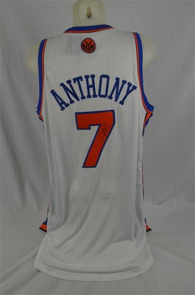 best service dc8ff 87e8f Lot Detail - Carmelo Anthony New York Knicks Autographed Jersey