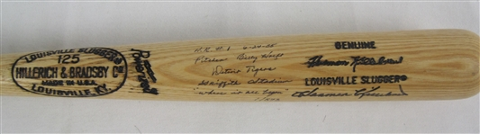 Harmon Killebrew One-Of-A-Kind Autographed & Inscribed Bat