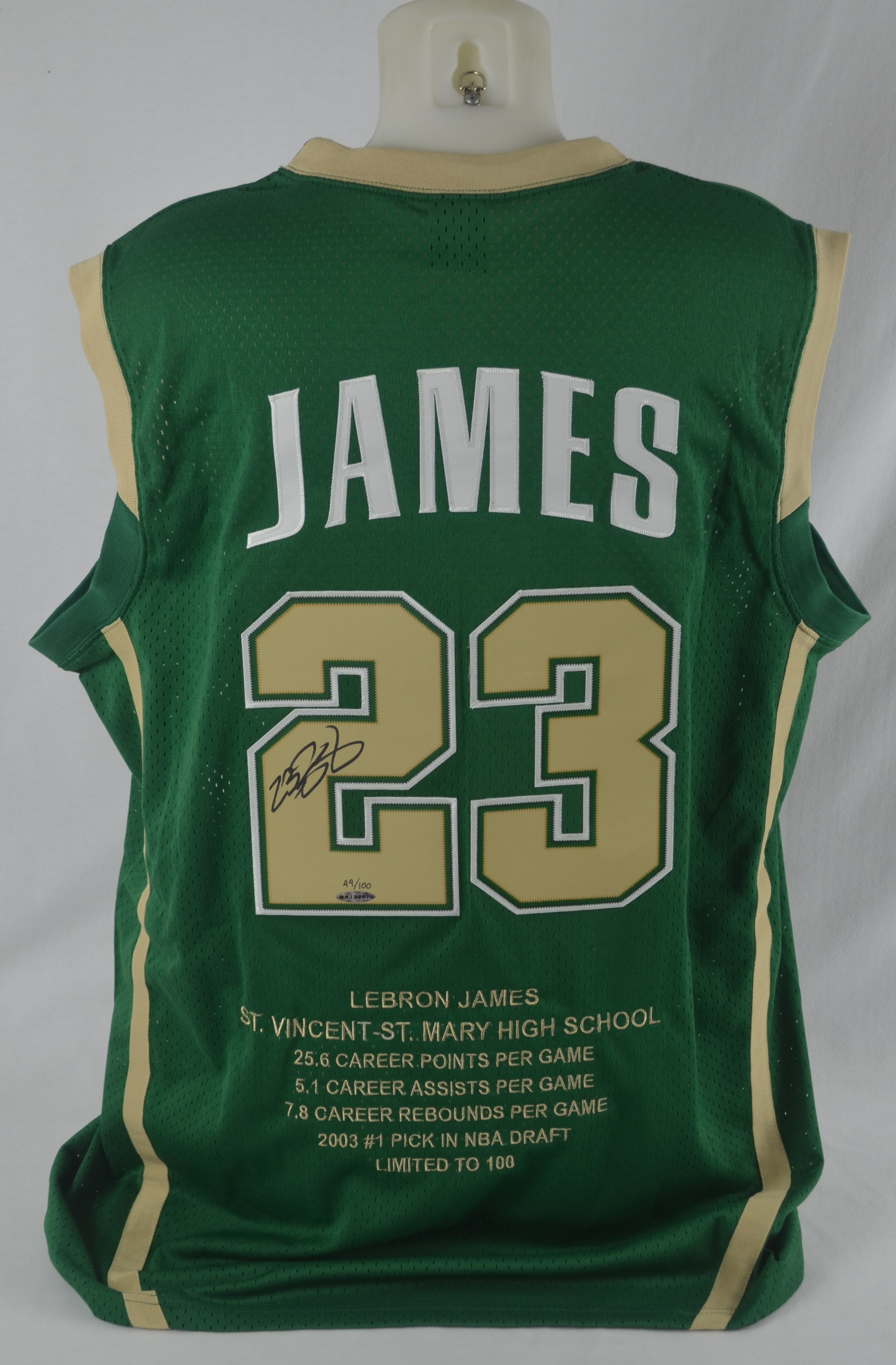 huge discount 39bd9 aa38e Lot Detail - LeBron James Autographed Limited Edition 2003 ...