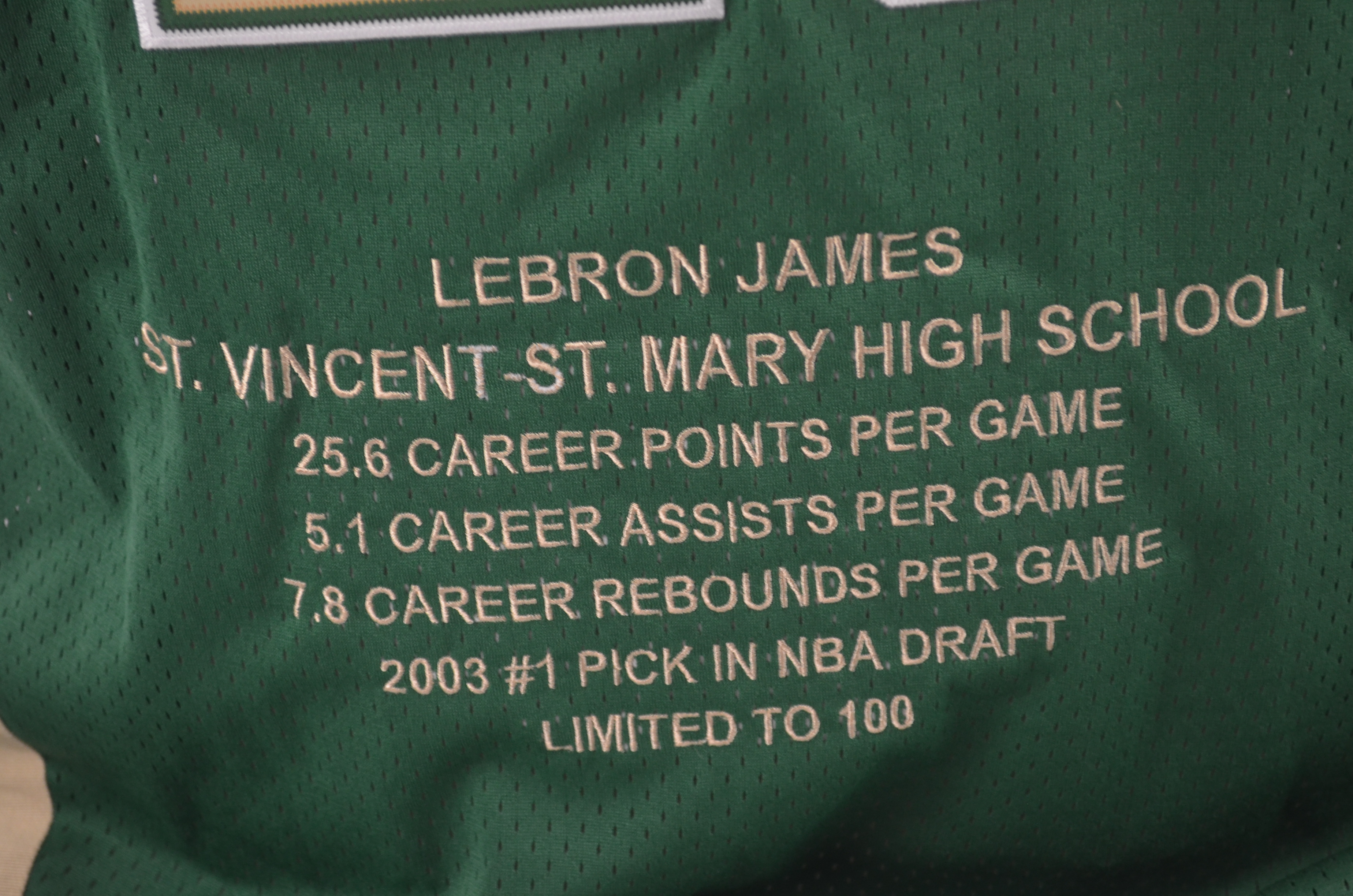 huge discount 74730 0a961 Lot Detail - LeBron James Autographed Limited Edition 2003 ...