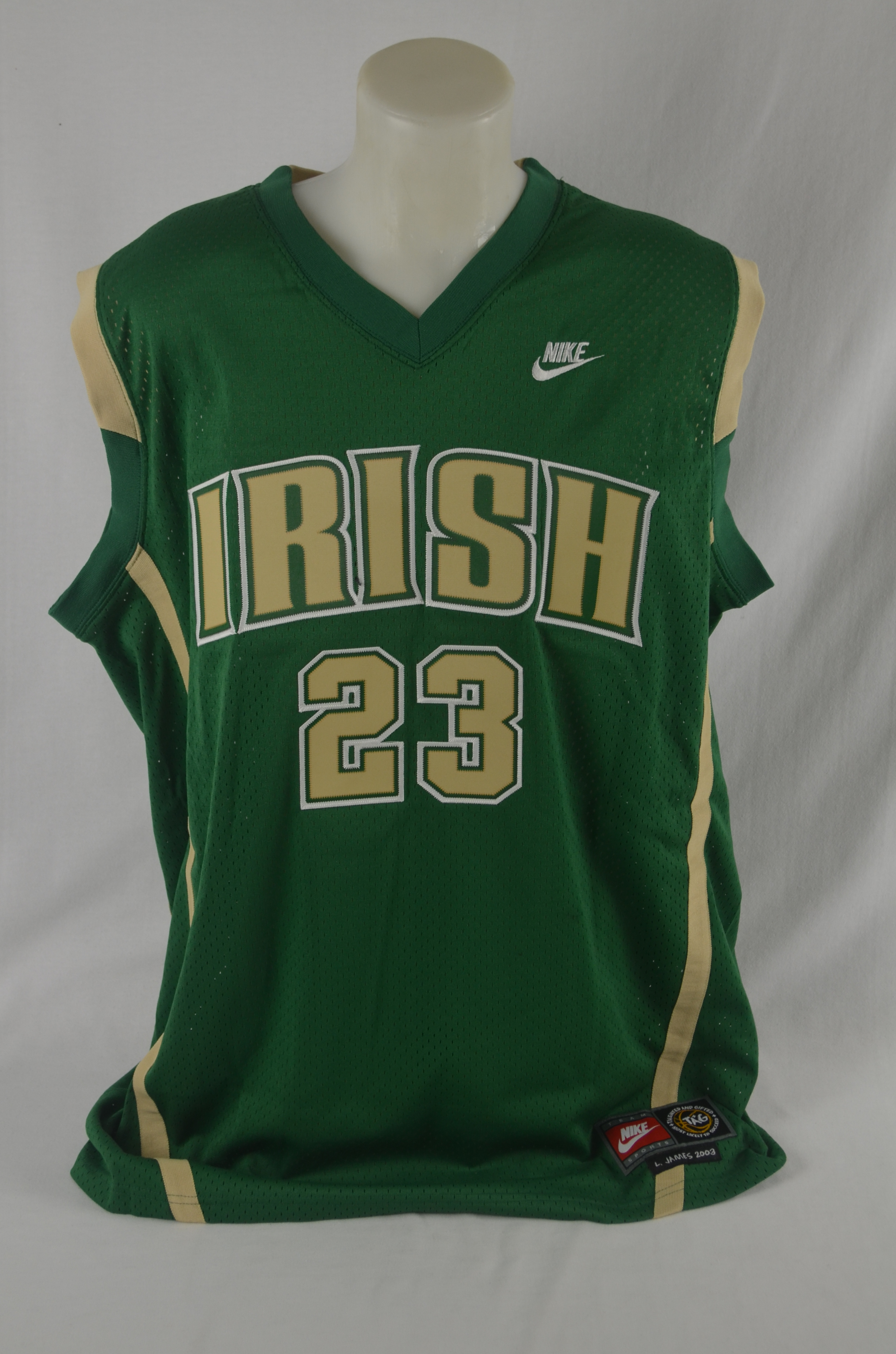 promo code f7c1c 053b3 LeBron James Autographed Limited Edition 2003 High School Jersey UDA 49 of  100 ...