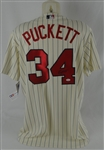 Kirby Puckett Autographed 1987 World Series Throwback Jersey