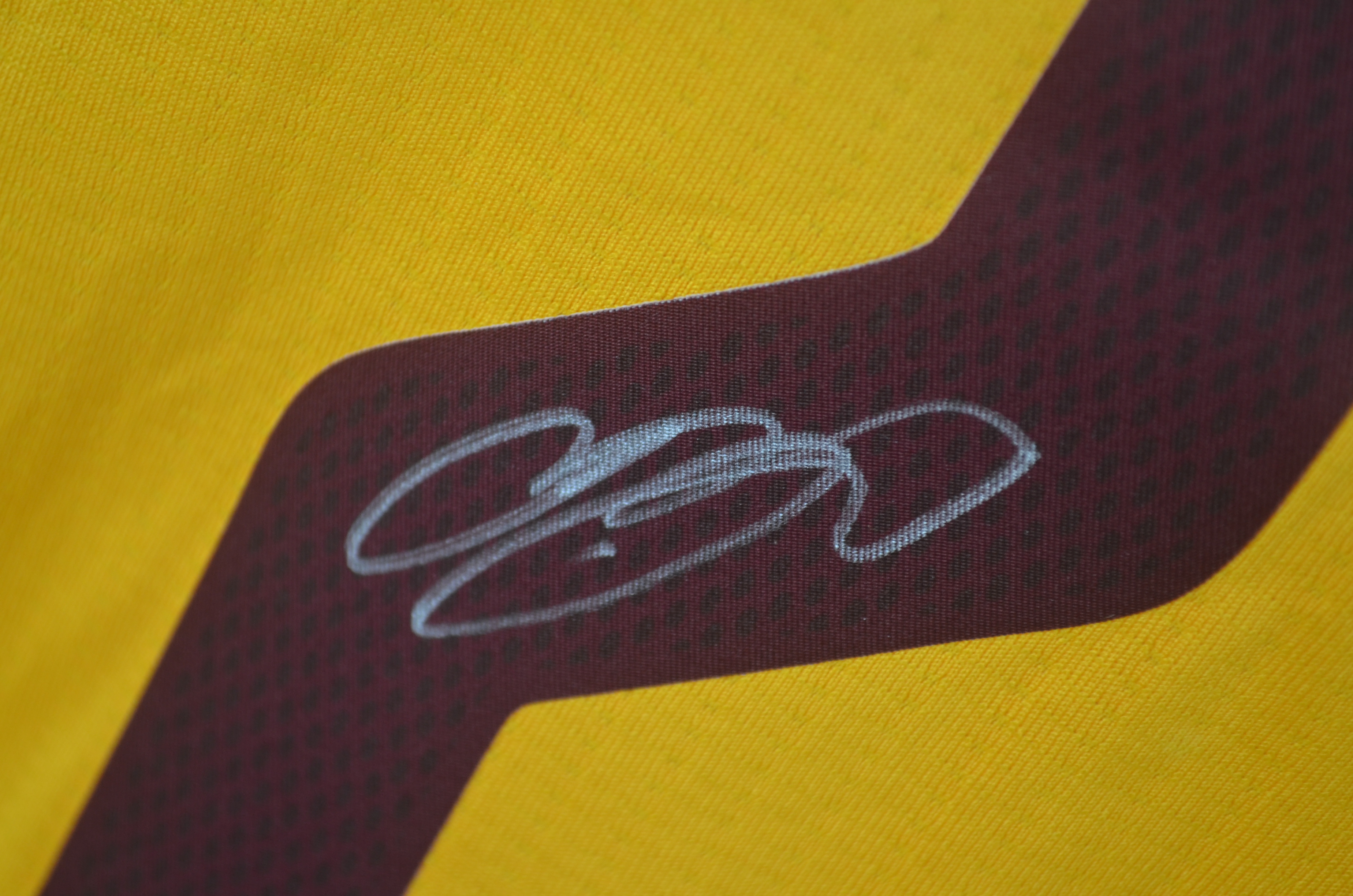 65518070b ... LeBron James Autographed 2014 Cleveland Cavaliers LE Christmas Jersey  UDA ...