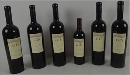 Amazin Collection of 6 Tom Seaver Autographed Unopened 2005 & 2006 GTS Vineyard 750ml Magnum Wine Bottles