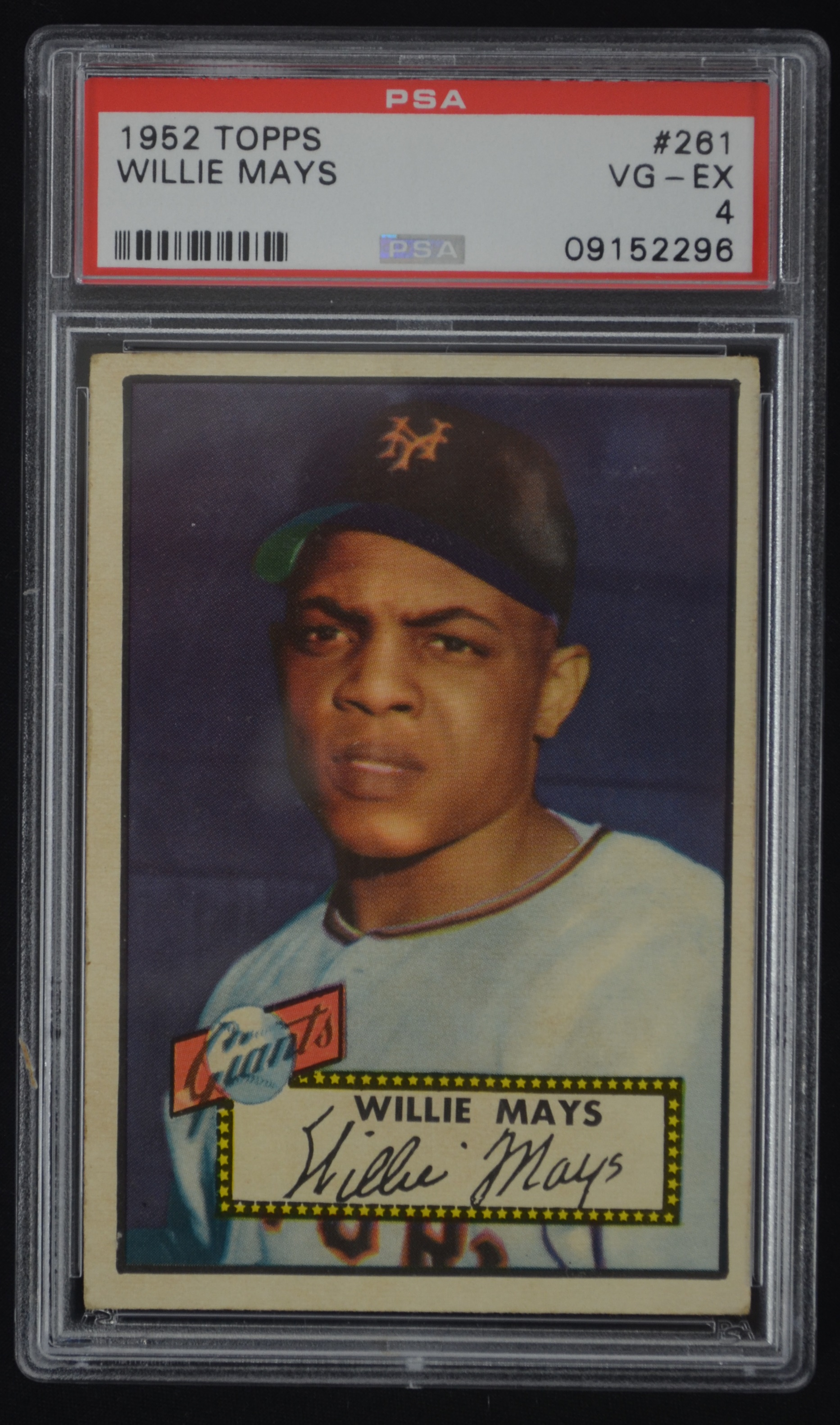Lot Detail Willie Mays 1952 Topps Rookie Card 261 Psa 4