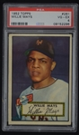 Willie Mays 1952 Topps Rookie Card #261 PSA 4