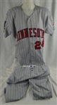 Shane Mack 1994 Minnesota Twins Professional Model Uniform w/Heavy Use