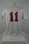 Chuck Knoblauch 1993 Minnesota Twins Professional Model Jersey w/Heavy Use