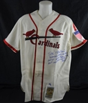 Stan Musial Autographed Limited Edition Career Stat Jersey