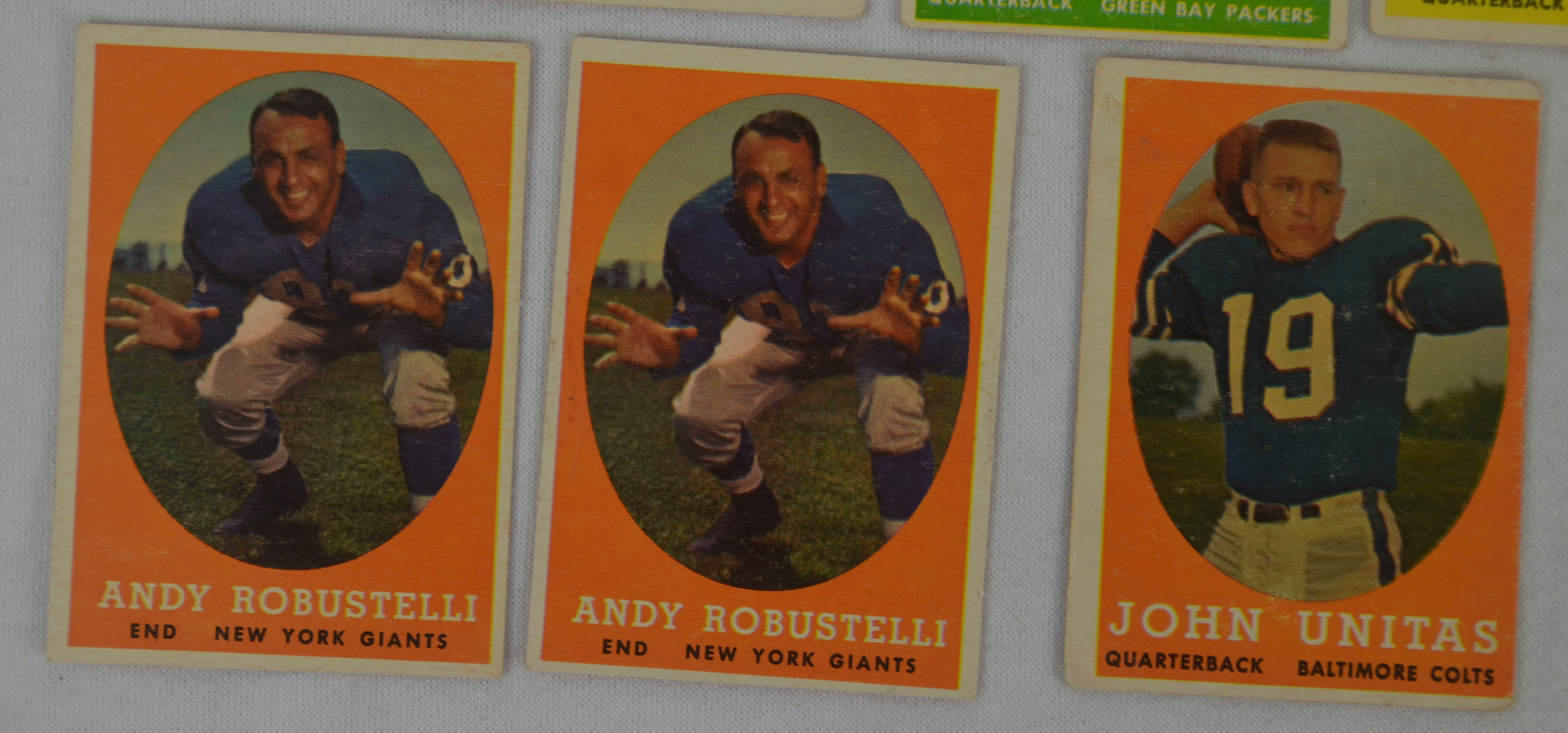 Lot Detail Vintage 1958 Topps Football Card Collection W