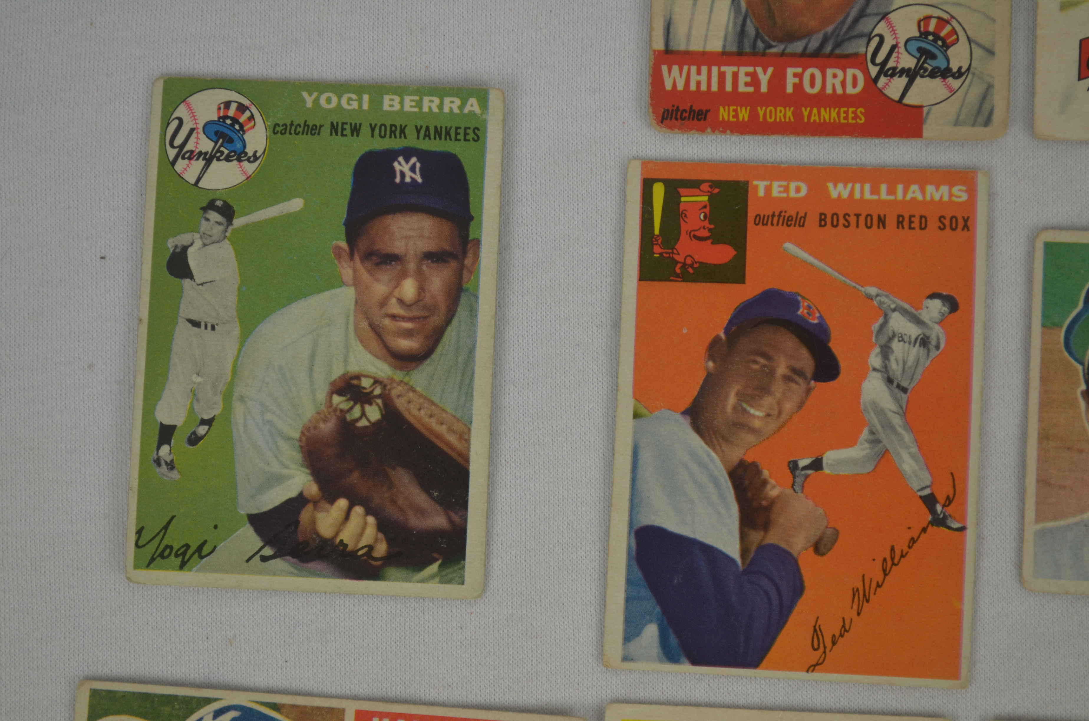 Lot Detail Vintage Collection Of 1953 1958 Topps Hof