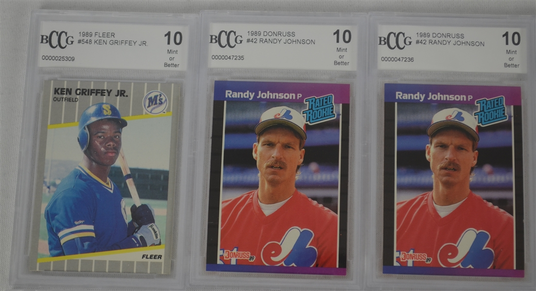 Lot Detail Mlb Collection Of 16 Beckett Graded Rookie Cards